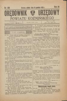 Orędownik Urzędowy Powiatu Koźmińskiego. R.36, nr 100 (15 grudnia 1923)