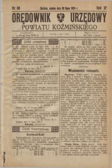 Orędownik Urzędowy Powiatu Koźmińskiego. R.37, nr 60 (26 lipca 1924)