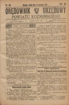 Orędownik Urzędowy Powiatu Koźmińskiego. R.38, nr 48 (17 czerwca 1925)