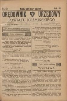 Orędownik Urzędowy Powiatu Koźmińskiego. R.38, nr 53 (4 lipca 1925)