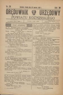 Orędownik Urzędowy Powiatu Koźmińskiego. R.39, nr 26 (31 marca 1926)