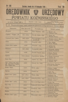 Orędownik Urzędowy Powiatu Koźmińskiego. R.39, nr 88 (3 listopada 1926)