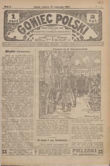 Goniec Polski.R.1, nr 4 (19 stycznia 1907)