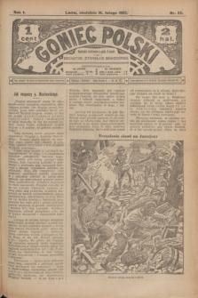 Goniec Polski.R.1, nr 22 (10 lutego 1907)