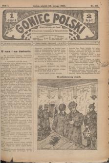 Goniec Polski.R.1, nr 32 (22 lutego 1907)