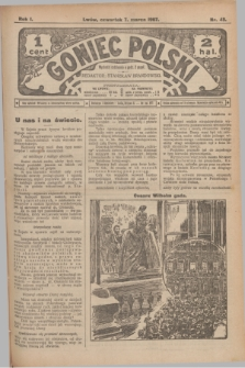 Goniec Polski.R.1, nr 43 (7 marca 1907)