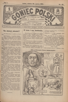 Goniec Polski.R.1, nr 62 (30 marca 1907)