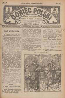 Goniec Polski.R.1, nr 79 (20 kwietnia 1907)