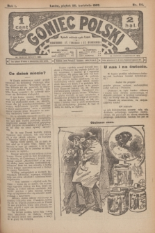 Goniec Polski.R.1, nr 84 (26 kwietnia 1907)