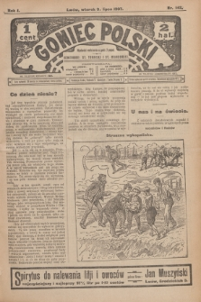 Goniec Polski.R.1, nr 142 (9 lipca 1907)