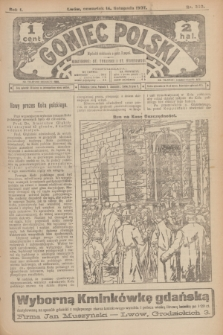 Goniec Polski.R.1, nr 250 (14 listopada 1907)
