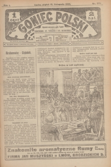 Goniec Polski.R.1, nr 251 (15 listopada 1907)
