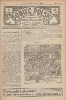 Goniec Polski.R.1, nr 258 (23 listopada 1907)