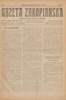 Gazeta Zakopiańska.R.1, nr 3 (13 czerwca 1921)