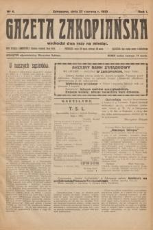 Gazeta Zakopiańska.R.1, nr 4 (27 czerwca 1921)