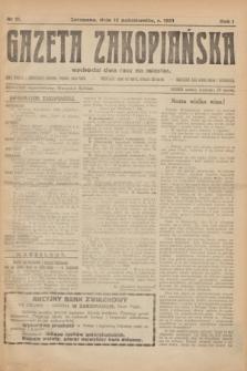 Gazeta Zakopiańska.R.1, nr 11 (15 października 1921)