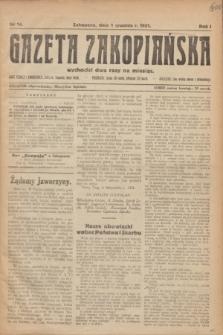 Gazeta Zakopiańska.R.1, nr 14 (1 grudnia 1921)