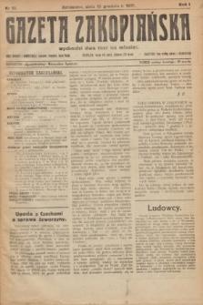 Gazeta Zakopiańska.R.1, nr 15 (15 grudnia 1921)