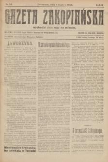 Gazeta Zakopiańska.R.2, nr 24 (1 maja 1922)