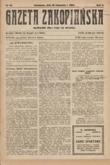 Gazeta Zakopiańska.R.2, Nr 43 (20 listopada 1922)