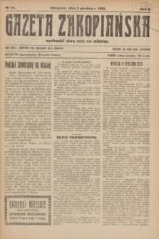 Gazeta Zakopiańska.R.2, Nr 44 (2 grudnia 1922)