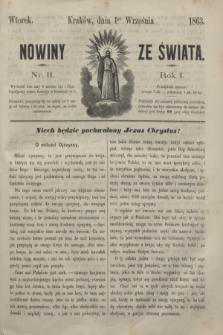 Nowiny ze Świata.R.1, nr 11 (1 września 1863)