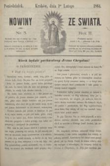 Nowiny ze Świata.R.2, nr 3 (1 lutego 1864)