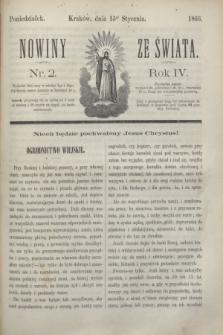 Nowiny ze Świata.R.4, nr 2 (15 stycznia 1866)