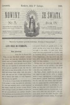 Nowiny ze Świata.R.4, nr 3 (1 lutego 1866)