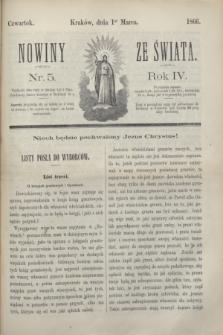 Nowiny ze Świata.R.4, nr 5 (1 marca 1866)