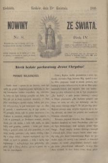 Nowiny ze Świata.R.4, nr 8 (15 kwietnia 1866)
