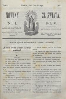 Nowiny ze Świata.R.5, nr 4 (15 lutego 1867)