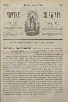 Nowiny ze Świata.R.6, nr 9 (1 maja 1868)