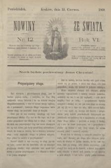 Nowiny ze Świata.R.6, nr 12 (15 czerwca 1868)