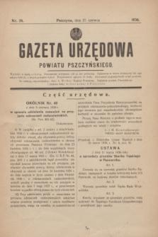 Gazeta Urzędowa Powiatu Pszczyńskiego.1936, nr 26 (27 czerwca)