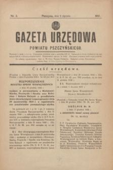 Gazeta Urzędowa Powiatu Pszczyńskiego.1937, nr 2 (9 stycznia) + dod.