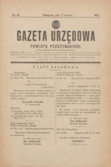 Gazeta Urzędowa Powiatu Pszczyńskiego.1937, nr 16 (17 kwietnia) + dod.