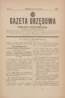 Gazeta Urzędowa Powiatu Pszczyńskiego.1937, nr 17 (24 kwietnia) + dod.