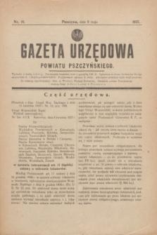 Gazeta Urzędowa Powiatu Pszczyńskiego.1937, nr 19 (8 maja)