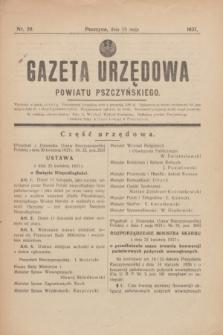 Gazeta Urzędowa Powiatu Pszczyńskiego.1937, nr 20 (15 maja) + dod.