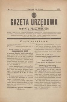 Gazeta Urzędowa Powiatu Pszczyńskiego.1937, nr 22 (29 maja)