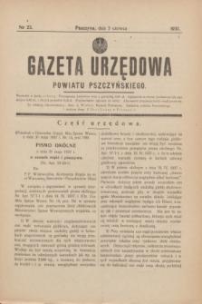 Gazeta Urzędowa Powiatu Pszczyńskiego.1937, nr 23 (5 czerwca)