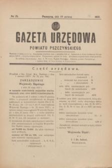Gazeta Urzędowa Powiatu Pszczyńskiego.1937, nr 25 (19 czerwca)