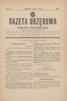 Gazeta Urzędowa Powiatu Pszczyńskiego.1937, nr 26 (26 czerwca) + dod.