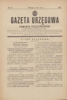 Gazeta Urzędowa Powiatu Pszczyńskiego.1937, nr 27 (3 lipca)