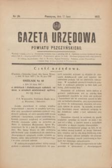 Gazeta Urzędowa Powiatu Pszczyńskiego.1937, nr 29 (17 lipca) + dod.