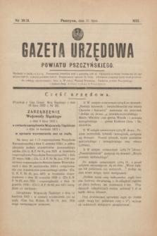 Gazeta Urzędowa Powiatu Pszczyńskiego.1937, nr 30/31 (31 lipca)