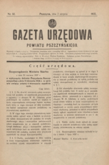 Gazeta Urzędowa Powiatu Pszczyńskiego.1937, nr 32 (7 sierpnia)