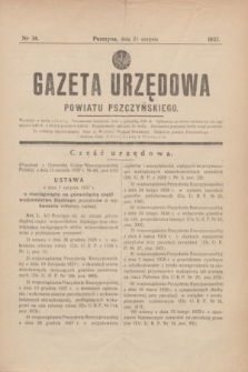 Gazeta Urzędowa Powiatu Pszczyńskiego.1937, nr 34 (21 sierpnia)