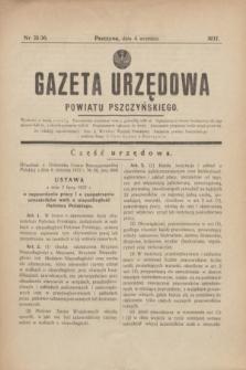 Gazeta Urzędowa Powiatu Pszczyńskiego.1937, nr 35/36 (4 września)